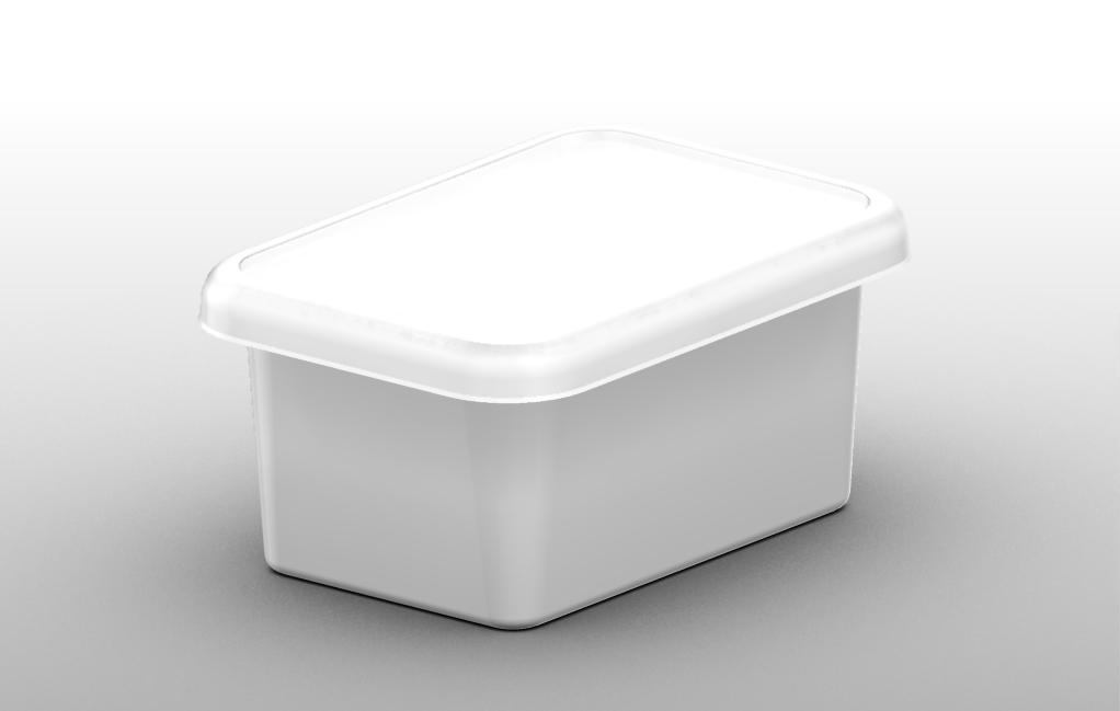 Plastic tray 500 ml